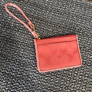 Coach credit card and ID wallet